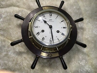 Vtg Original Brass Schatz Germany Royal Mariner Ship's Bill Strikes Clock Work