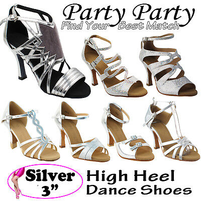 "~50 SHADES of SILVER~ 3"" Heel Dance Dress Shoes Collections-I by Party Party"