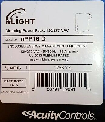 4 NEW n-Light NPP16 D POWER/RELAY PACK OCCUPANCY CONTROLLED DIMMING 120/277 VOLT