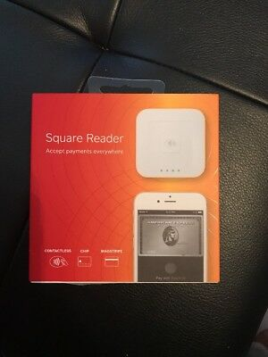 Square Contactless Chip Reader & Magstripe Wireless NFC Apple Pay Google Pay