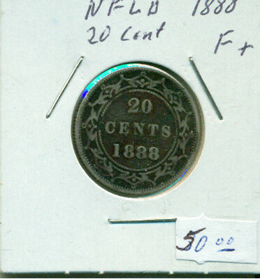 NFLD 1888 F+ 20 cents