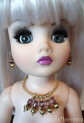 """OOAK DOLL JEWELRY for 21"""" CISSY and similar sized dolls Amethyst - NO DOLL"""
