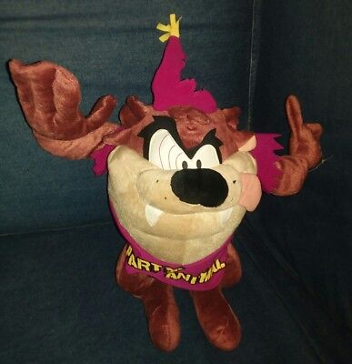 """Tasmanian Devil (Taz) Party Animal Plush Bendable Doll Approx 13"""" Hard To Find"""