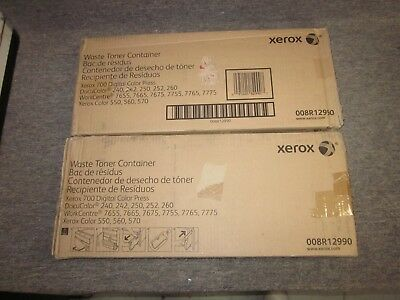 Genuine Xerox 008R12990 Waste Toner Container DC 240 242 250 252 260 WC 7655 2pk