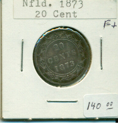 NFLD 1873 F+ 20 cents