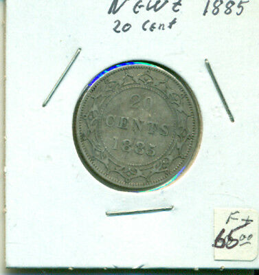 NFLD 1885 F+ 20 cents