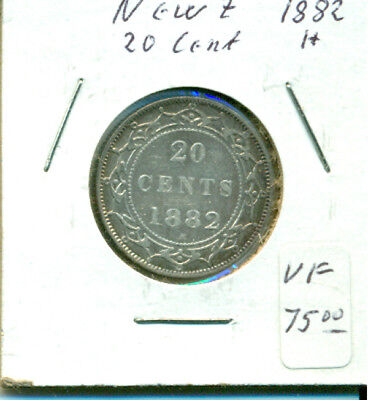 NFLD 1882H VF 20 cents