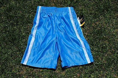 Basketball soccer sport training shorts BNWT youth boys kids marina blue size 8