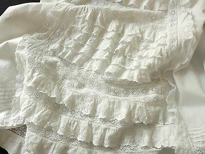 ~ELABORATE~ FRENCH Baby Christening Gown VICTORIAN Embroidery BRODERIE ANGLAIS