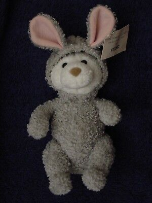 UNDERCOVER BEAR in RABBIT SUIT 1986? VICTORIA'S SECRET GUND Stuffed Animal &Tags