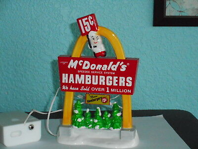 Department 56 Snow Village McDonald's sign, retired, rare