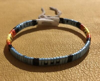 Neat New Lakota Sioux Quilled Bracelet Quilled On Rawhide