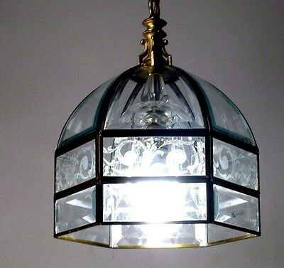 Vintage Pendant Glass Lighting Fixture  Lamp Ceiling Light Lantern