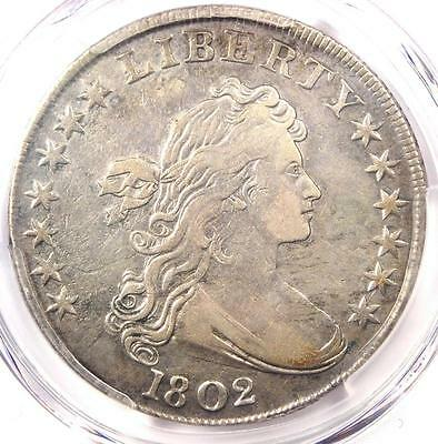 1802 Draped Bust Silver Dollar $1 Coin - Certified PCGS VF Details - Near XF!