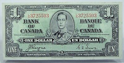 CANADA 1937  $1 Bank Note One Dollar  LN3725503      #919s372CTD