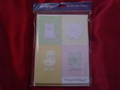 Hallmark Baby Thank You Note and Envelopes