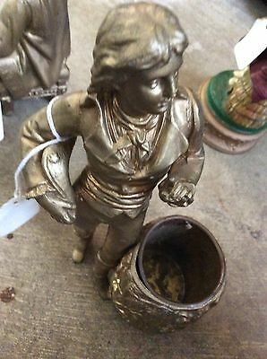 Antique spelter statue 8 inches in perfect condition