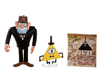 Disney Barfing Grunkle Stan Bill Cipher Gravity Falls 2 Pack Loose Action Figure