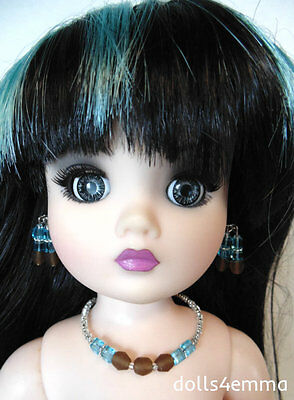"""OOAK DOLL JEWELRY for 21"""" CISSY and similar sized dolls TURQUOISE - NO DOLL d4e"""