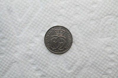Danish West Indies Coin, 5 Cents (25 Bit), from 1905 in nice condition