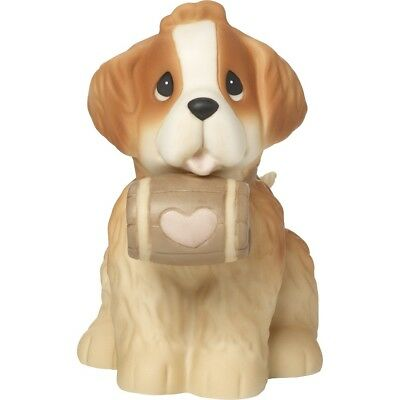 St Bernard Precious Moments Figurine Dog You're A Life Saver Barrel Love NWOB