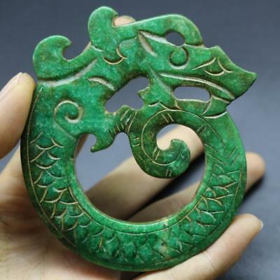 Fine Chinese Old HongShan Culture Jade Hand-carved Amulet Pendant