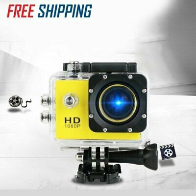 2'' Waterproof 1080P Ultra HD Sports Action Camera DVR Cam Camcorder Yellow