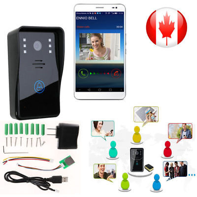 Wireless WiFi Video Camera Remote Rainproof Door Phone IR Intercom Home Monitor
