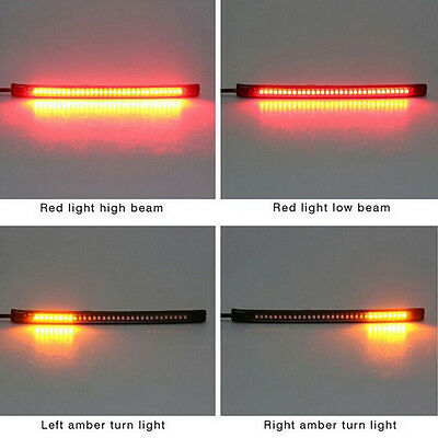 Universal Motorcycle Tail Brake Stop Turn Signal Integrated 32 LED Light Strip X