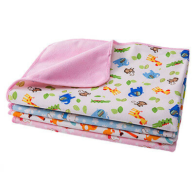 Pro Reusable Baby Infant Waterproof Urine Mat Cover Burp Changing Pad Durable
