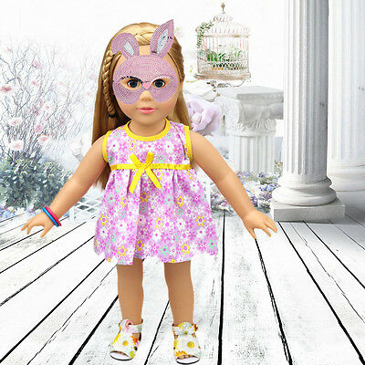 Cute Handmade Doll Clothes Dress for 18 inch Doll Baby Kids Gifts.-