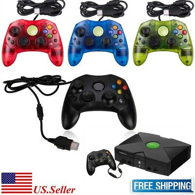 NEW XBOX S-TYPE Controller For Microsoft XBOX Original Wired 4 Colors