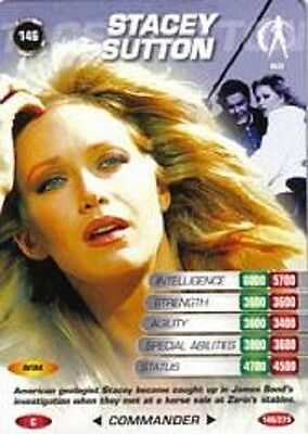 James Bond 007 Spy Card STACEY SUTTON Trading Card # 146 COMMON A View to a Kill
