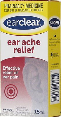 BARGAIN - Ear Clear drops for Ear Ache Relief 15ml