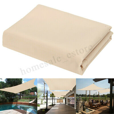 Patio Sun Shade Sail Shelter Outdoor Garden Car Cover Awning Canopy Custom Size
