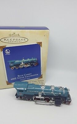 Hallmark Keepsake Lionel Blue Comet 400E Steam Loco Ornament Train Euc