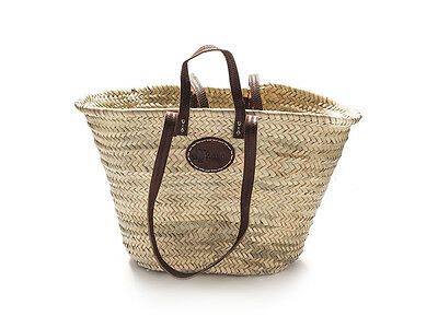 French market baskets with double strap handles - large