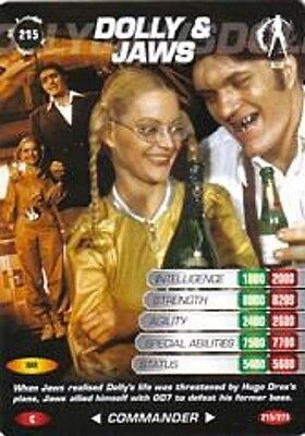 James Bond 007 Spy Card DOLLY & JAWS Trading Card Number 215  COMMON  MoonRaker