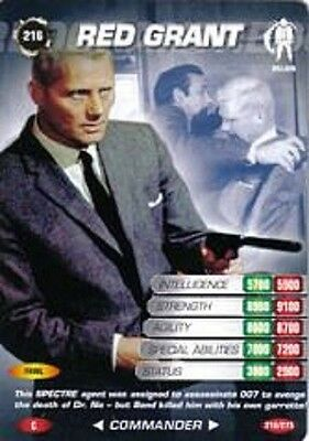 James Bond 007 Spy Card RED GRANT Trading Card Number 216 COMMON Robert Shaw