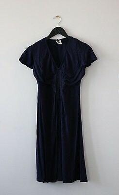 Hot Milk Maternity Nursing Breastfeeding Nighty Nightgown Navy Size M