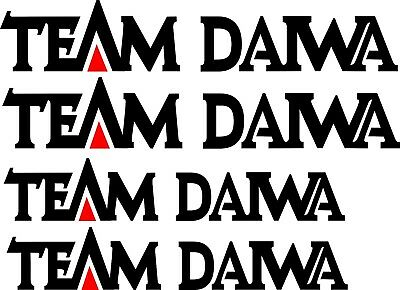 Team Diawa 2 x 700 mm x 125 mm  2 x 600 mm x 110 mm  Quality Stickers