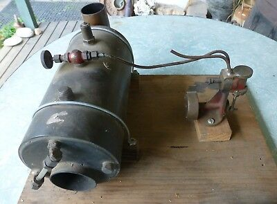 Vintage Model Steam Engine Complete with Boiler All Brass