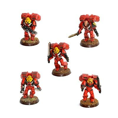 Warhammer 40K Space Marines Assault Squad Painted Blood Angels