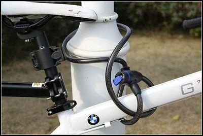 Bicycle Bike Spiral Long Cable Lock 650mm With 2 Keys