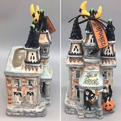 "Blue Sky Hotel of Horrors Vampire Tealight TLite Candle Holder Halloween 11"" NEW"