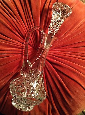Exquisite Vintage Antique Glass Crystal Jug With Stunning Stopper Oil Vinegar