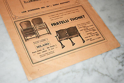 Publicité THONET 1925 (vintage design Art Nouveau ad furniture mobilier theatre)