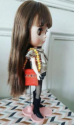 Wonderful Leather Bag For Your Blythe, Handmade. With Second Bag Offered