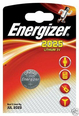 Energizer 2025 CR2025 3v Lithium Coin Cell Battery Best Before July 2023 V17B