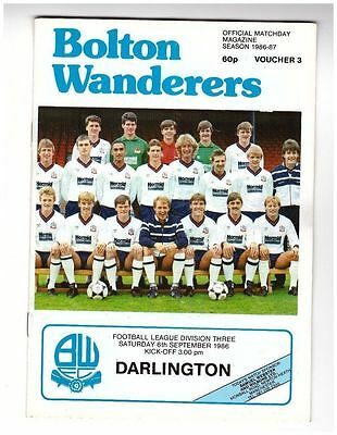 Bolton v Darlington 86/87